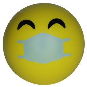 Happy PPE Emoji Squeezies® Stress Ball